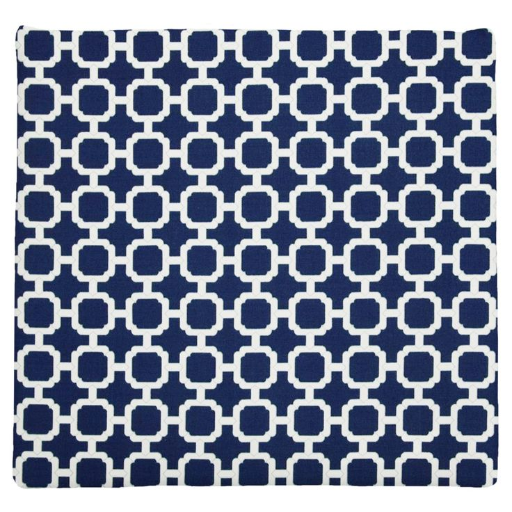 Easy Way Lattice Print Knife Edge Polyester Outdoor Chair Pad - 11004U-C673
