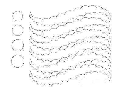 Плетем красивые бумажные шары на елку - Шаблон