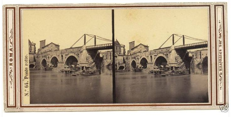 Stereograph of Ponte Rotto