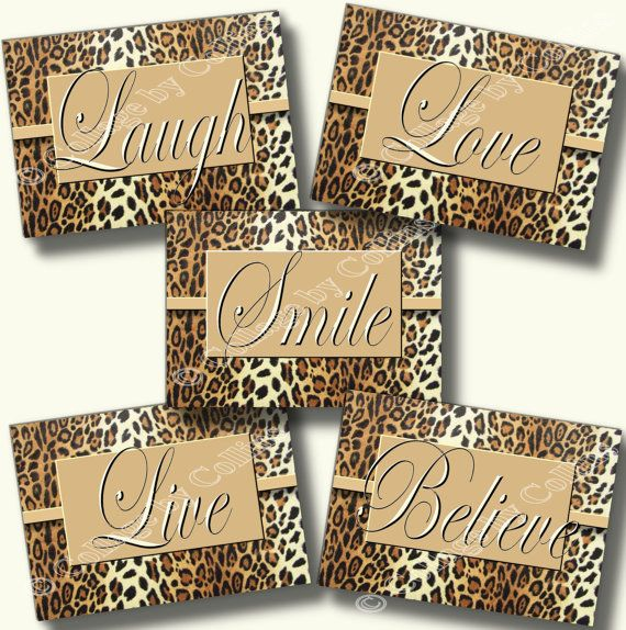Leopard Cheetah Print Wall Art Decor by collagebycollins on Etsy, inspirational, believe, live, love, smile, laugh, quote, teen, nursery, dorm, college, bathroom, bath, office, home, Leopard Cheetah Print Wall Art Decor Inspirational Believe Live Love Smile Laugh Quote Teen Nursery Dorm Inspirational Motivational Quote Words