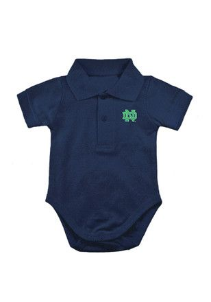 Notre Dame Fighting Irish Baby Navy Blue Golf Polo Creeper