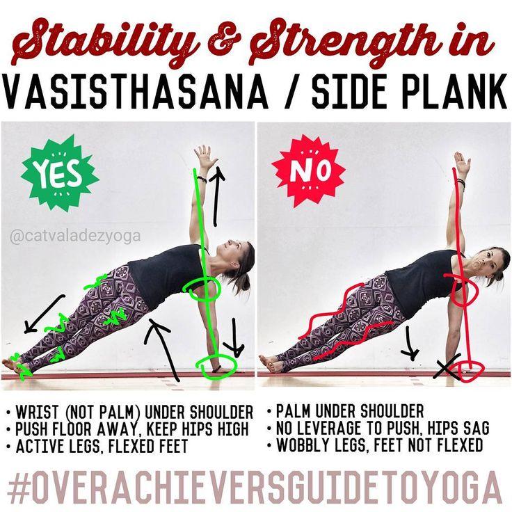 いいね!501件、コメント19件 ― Cat Valadez - E-RYT200, RYT500さん(@catvaladezyoga)のInstagramアカウント: 「Oh, that #sideplank! Your base is so small here (one hand, one foot) that good alignment is…」