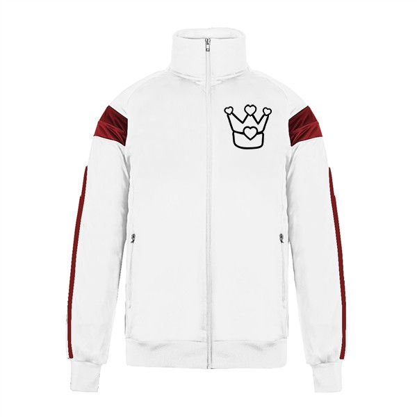 Custom Jacket No Minimum Varsity Track Crown Men's Big & Tall Pieced... (63 AUD) ❤ liked on Polyvore featuring men's fashion, men's clothing, men's activewear, men's activewear jackets, mens activewear, mens track tops and mens track jacket