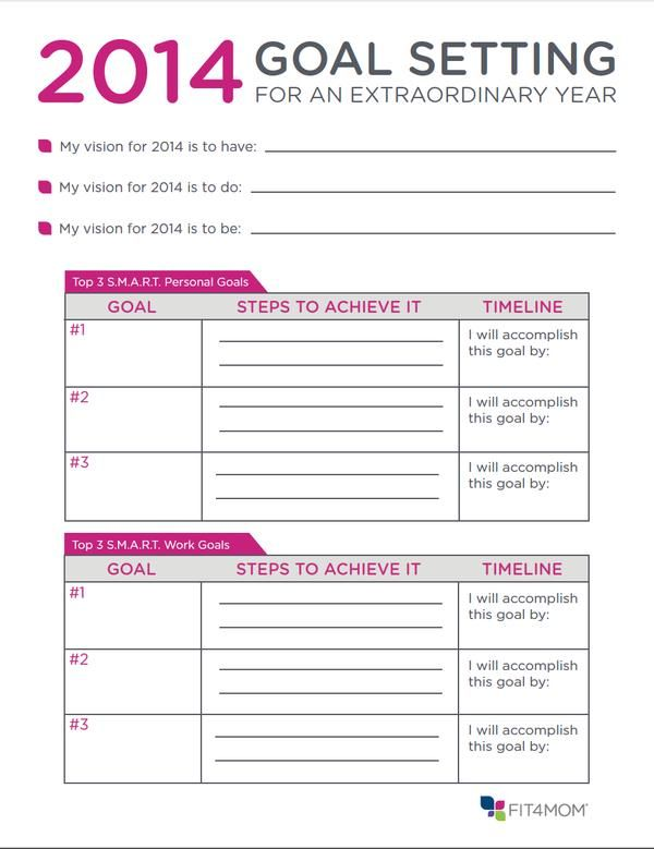 Let's Try Some Goal Setting That Actually Works This Year - Largest Fitness Program for Moms