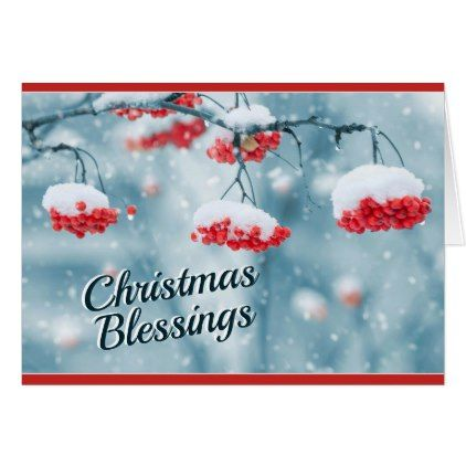 Christmas Blessings Psalm 29:11 Bible Verse Card - christmas cards merry xmas diy cyo greetings