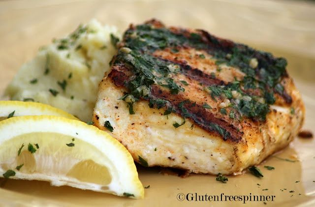 One of our favorites!  Grilled Halibut with Parsley Butter