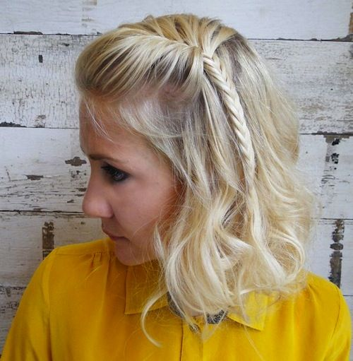 4 Summer 2014/2015 HairStyle Trends To Go From Pool To Party: Low Loop Knot, Faux Bob Fishtail, Tousled Beachy Waves, Wrap Bun