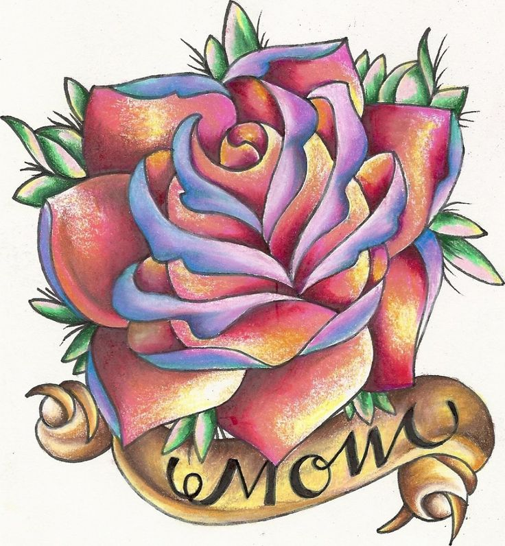 Traditional Mom Tattoo Design