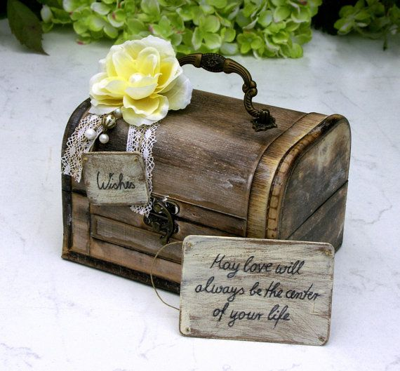 Rustic Wedding Wish Chest by ForMomentsinTime on Etsy