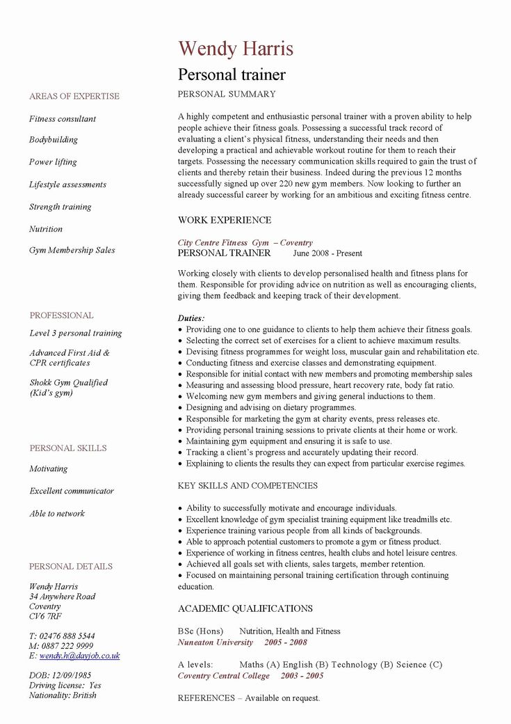 25 entry level dietitian resume in 2020 personal trainer