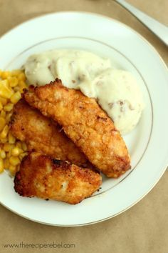 The Best Oven-Fried Chicken -- tastes just like KFC without all the extra grease! So easy.