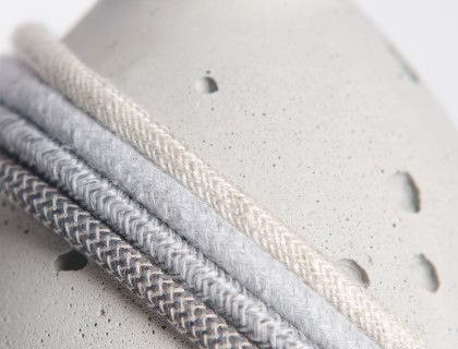 Check our full concrete colours range and new braided cotton and linen cables for the lamps.