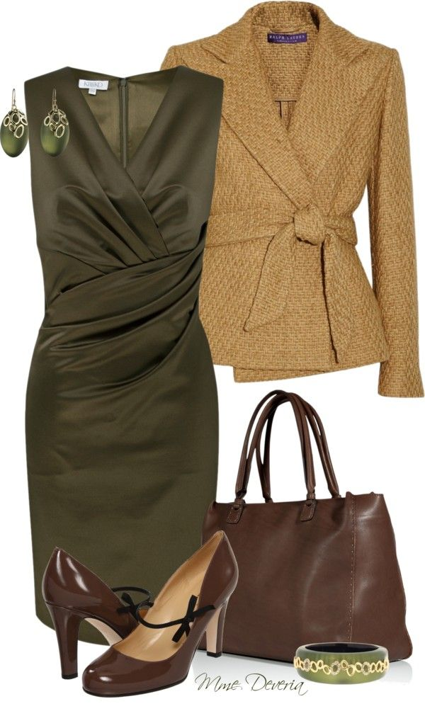 """""""Green wrap dress"""" by madamedeveria ❤ liked on Polyvore"""