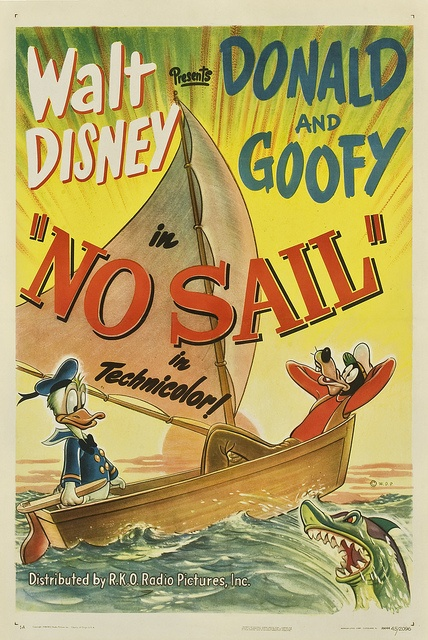 Theatrical poster of Donald Duck in No Sail.