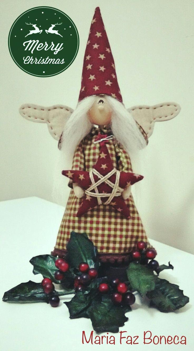 ❤ Christmas Angel ❤ (boneca de madeira ) by Maria Faz Boneca