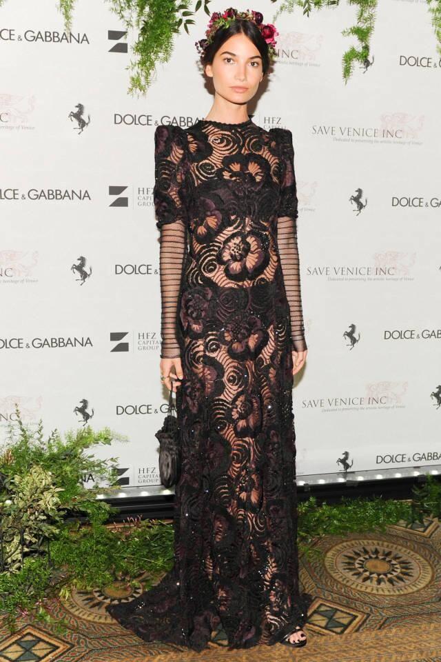 Lily Aldridge in Marc Jacobs