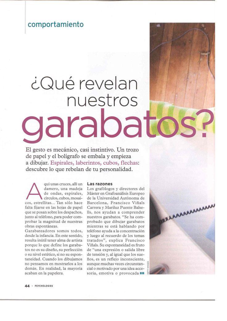 """1.-  Psychologies Magazine, 57 """"Qué esconden nuestros garabatos"""""""