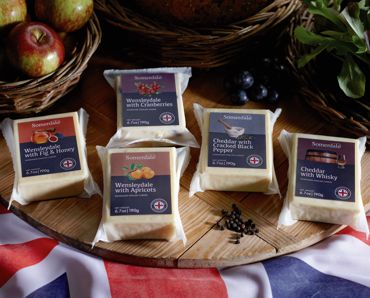 Somerdale Blended Cheeses - Choose from Wensleydale with Cranberries, Wensleydale with Apricots, Wensleydale with Fig & Honey, Cheddar with Cracked Black Pepper or Cheddar with Whisky.