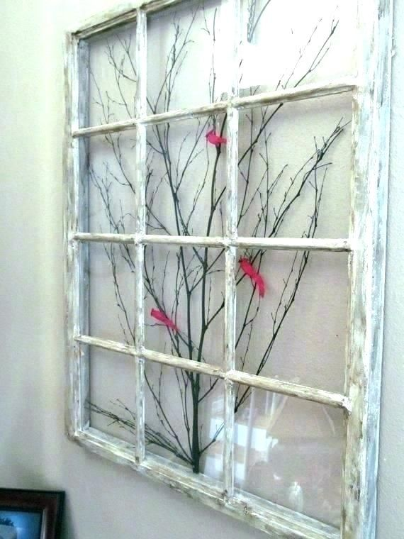 Old Window Frame Decor Ideas For Windows Decorating With Wood Decora Window Frame Decor Frame Decor Old Window Frame