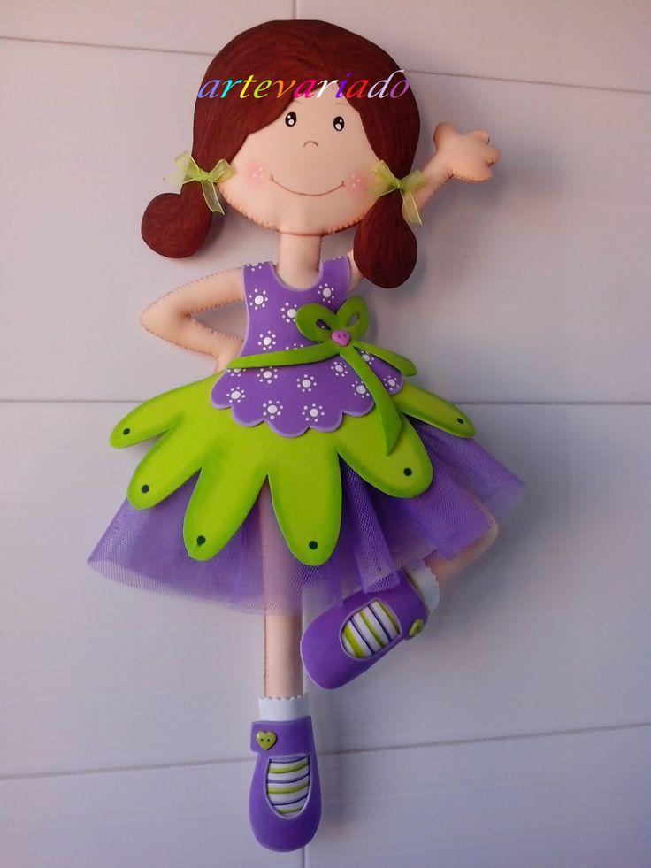 Goma Eva colori viola e verde che piacciono a Silvia