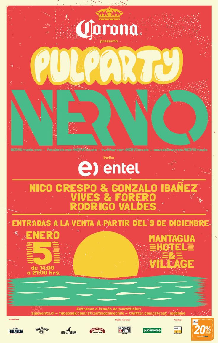 Pulparty Nervo - 05 de enero - Mantagua Hotel & Resort