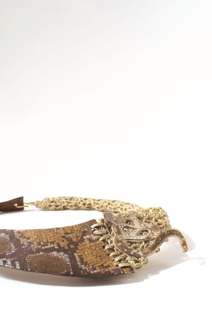 """Necklace """"Carpet Snake"""" www.stellakyriakou.com"""