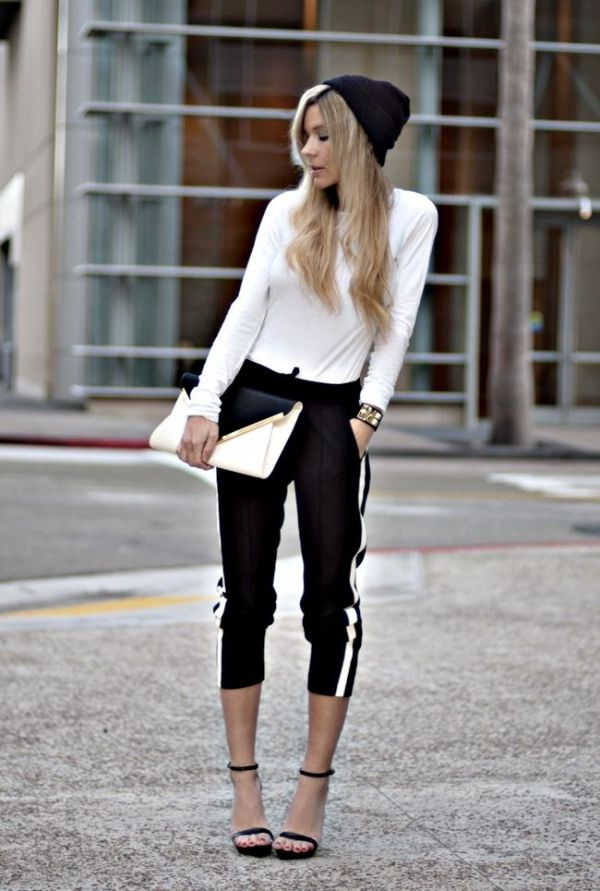 Athletic-inpsired yet tailored and chic