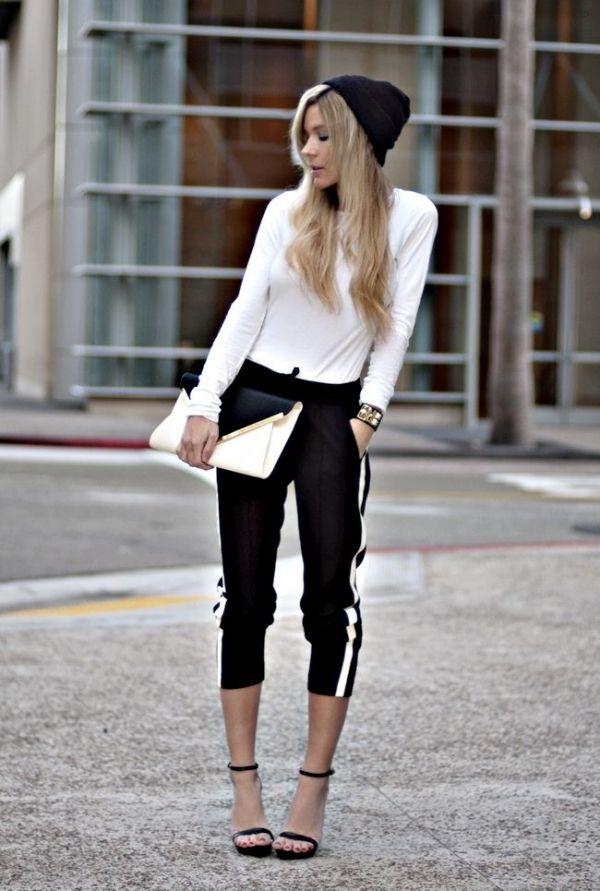Pantalones de chándal y tacones ¿sí o no? #sportychic