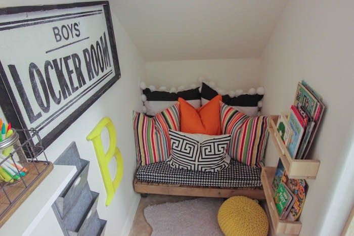 Under Stairs closet turned into a kids Playroom