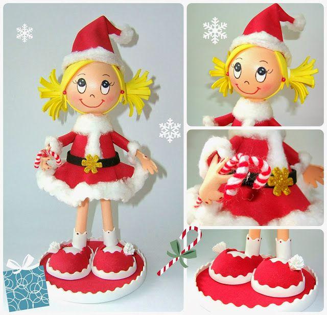 Ya se acerca la Navidad... Fofucha especial para decorar la navidad
