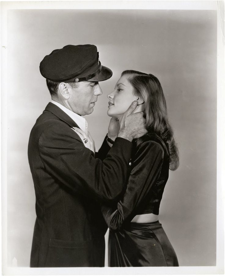 """Humphrey Bogart & Lauren Bacall in """"To Have and Have Not"""" directed by Howard Hawks, 1944. Photo by Mac Julian"""