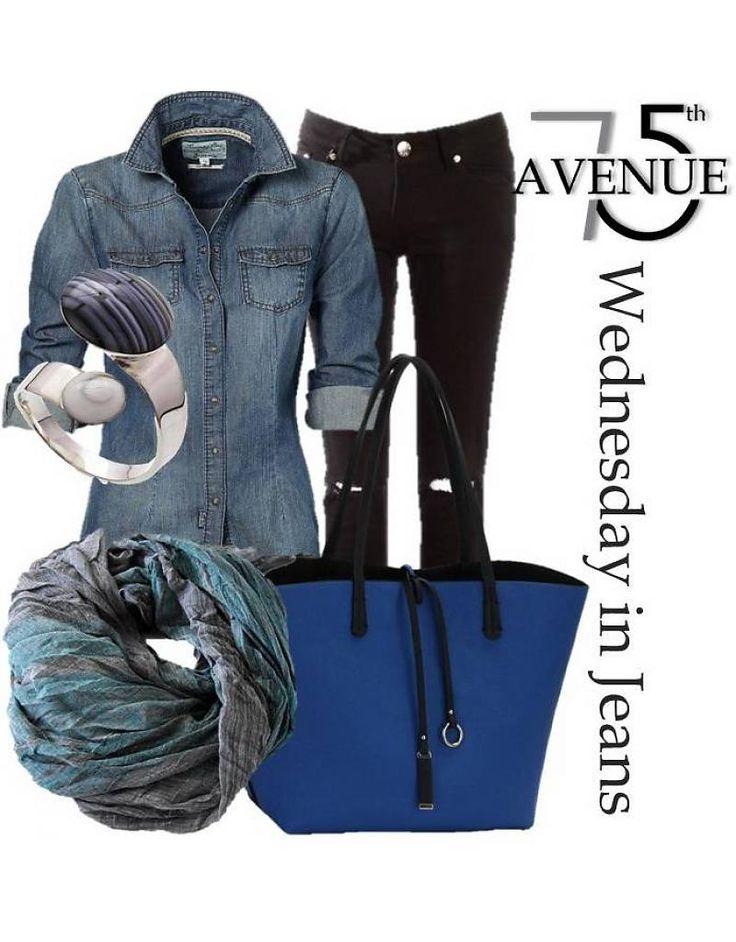 Shopper schwarz/blau 2 in 1 - 75-th Avenue