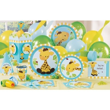 Giraffe theme for Nora's first birthday? She loves Sophie la Girafe!