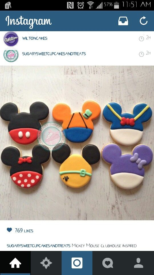 Mickey mouse & friends cookies