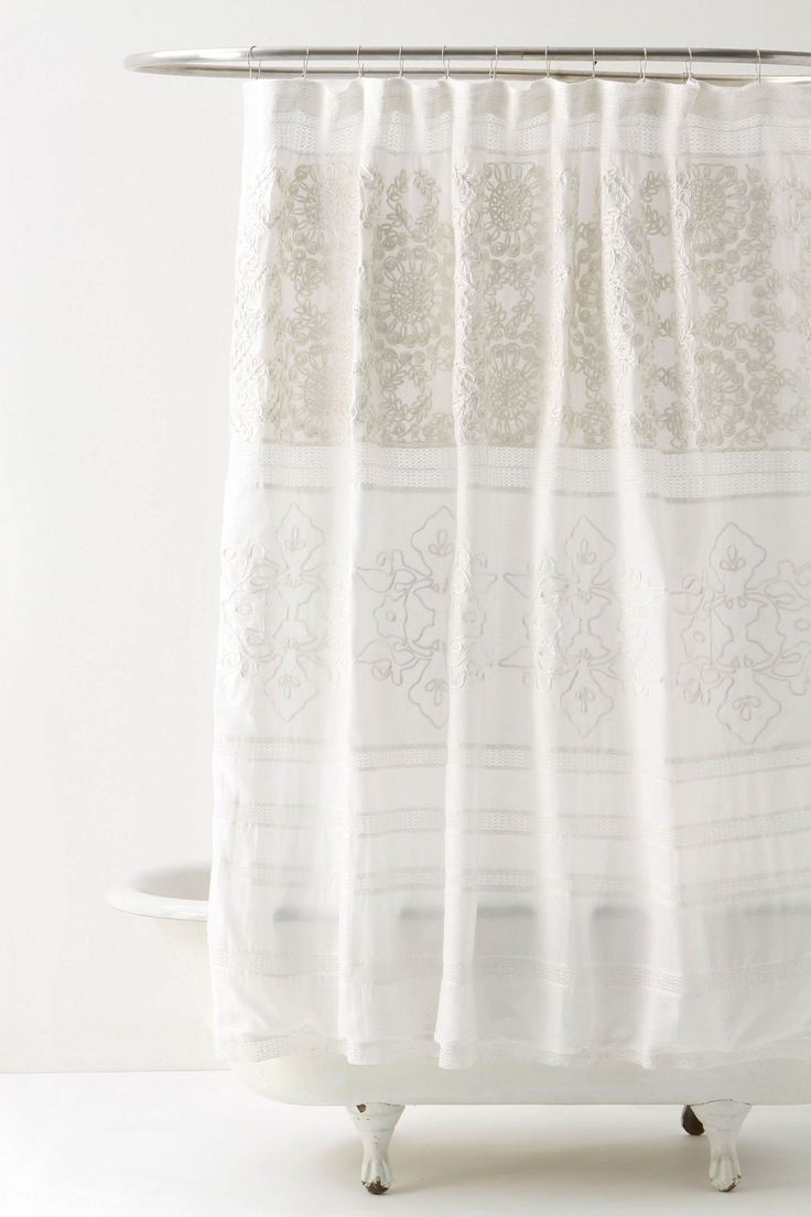 Rubied Lace Dress. Lace Shower CurtainsBathroom ...