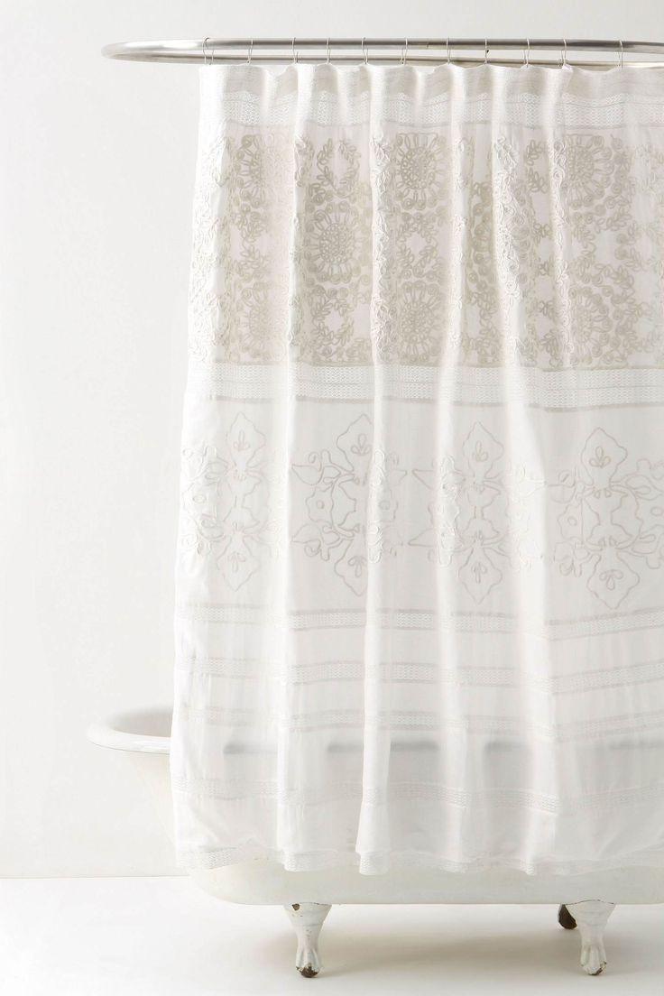 love this beautiful neutral shower curtain.
