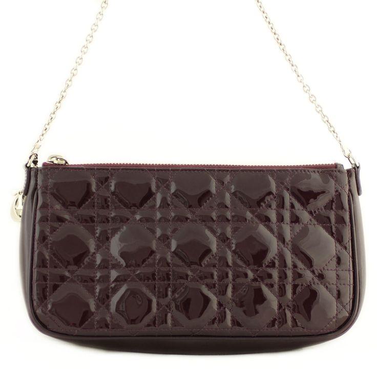 Dior Patent Cannage Lady Dior Clutch Back