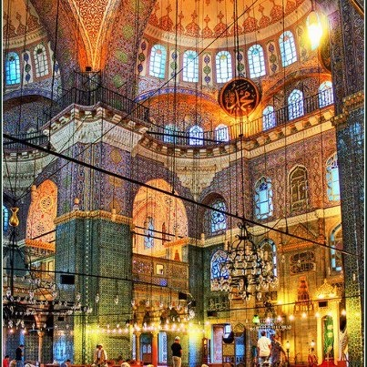 Yeni Cami Dome, Istanbul, Turkey    The construction of the mosque first began in 1597. It was ordered by Safiye Sultan, who was the wife of Sultan Murad III. The original architect was Davut Ağa, an apprentice to the great Mimar Sinan. However, Davut Aga died in 1599 and was replaced by Dalgıç Ahmed Çavuş. The construction took more than half a century and was completed by another valide sultan Turhan Hadice.