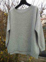 Пуловер бокси спицами сверху вниз