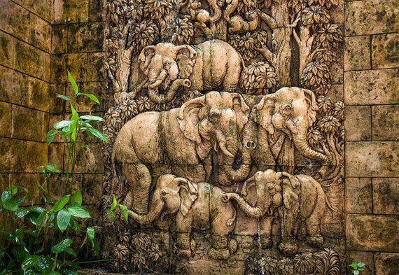 Peel And Stick Wall Art Elephants Wallpaper Rustic Wall Etsy Elephant Wallpaper Stick Wall Art Art