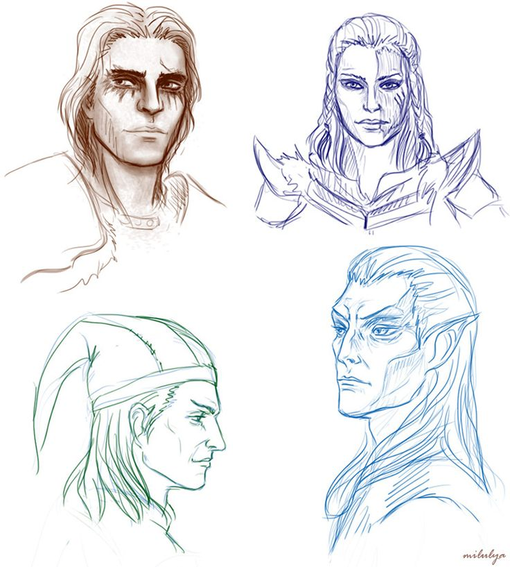 skyrim faces by Milulya on DeviantArt