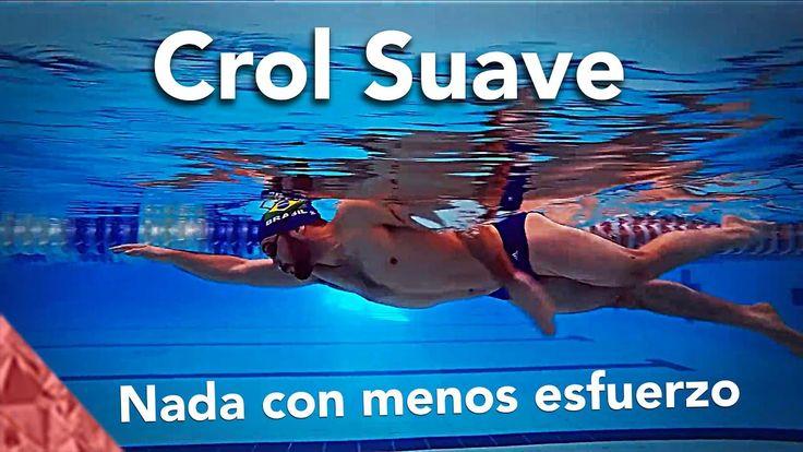 Nadar a crol correctamente con menos esfuerzo. Estilo libre suave. Natacion