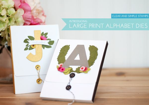 Large Print Alphabet Dies | Damask Love Blog | using Clear and Simple Stamps Large Print Alpha Dies - full supply list and flap box template download on blog