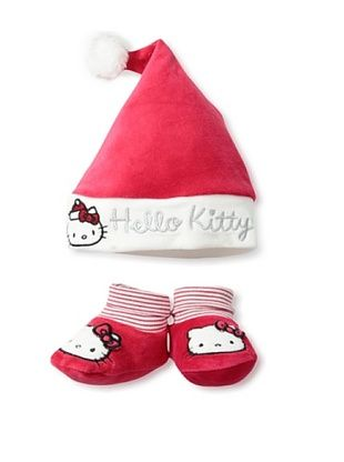 50% OFF Hello Kitty Baby Holiday Bootie & Hat Set (Red)