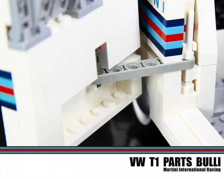 VW T1 Parts Bulli - Martini International Racing: A LEGO® creation by Malte Dorowski : MOCpages.com