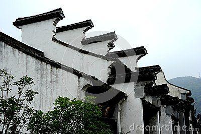 The old house eaves of Chinese in Huishan Wuxi Jiangsu province.
