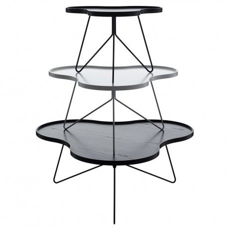 The flower-shaped table is one of Swedese's modern icons. Now we're introducing Flower in the size that has been lacking, a medium-sized table joins the family of the large and the small Flower table. The new Flower table is 90 x 84 cm, and 46 cm high. The table is made in the same finishes as the present Flower and Flower Mono. Design Christine Schwarzer.  Swedese.