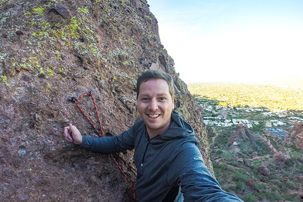 Rock Climbing at Camelback Mountain in Phoenix, Arizona | http://wanderthemap.com/2015/02/rock-climbing-at-camelback-mountain-in-phoenix-arizona/