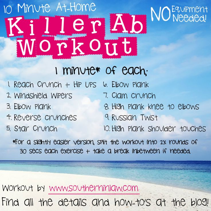 30 Best Gym Gloves Australia Images On Pinterest: Killer 10 Minute Ab Workout