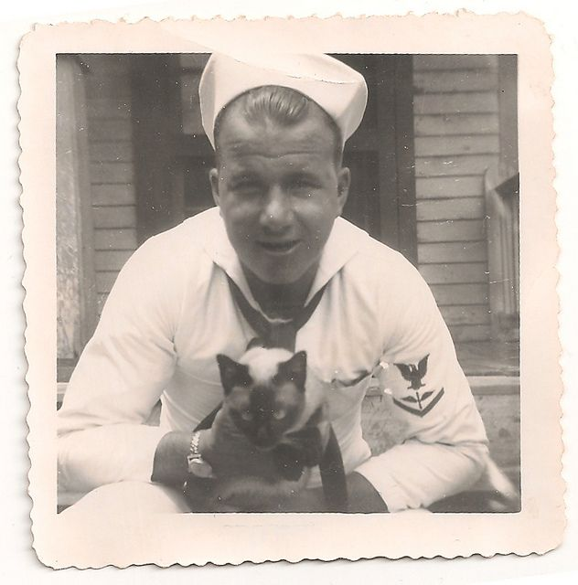 Sailor and cat.